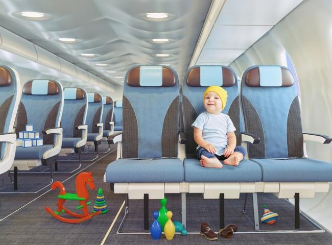 Путешествие на самолете с ребенком